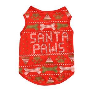 画像2: (dog1) 【大特価品 期間限定】ドッグウエア クリスマス  santa paws トップス 小型犬 犬服 お洋服 X'mas