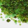 (1170) 【ミニチュアパーツ】ガラスカレット グリーンMIX 緑  丸型ケース入り