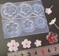 (S428)シリコンモールド 桜 さくら サクラ フラワー型 立体 3サイズ