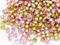 ジュエリア●Vカット チャトンストーン 粒販売●SS4(PP9 約1.5mm) ライトローズ 40粒