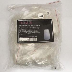 画像1: (1856) アウトレット 手用 ネイルチップ 透明 クリア 約500枚入り 付け爪 セルフネイル*おひとり様1点までカートにお入れできます。