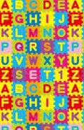 デコシートプロ アルファベットパズル カラフル 9×14cm ホワイト地