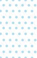 デコシートプロ ドット ブルー 9×14cm ホワイト地