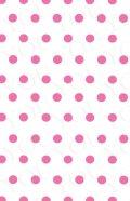 デコシートプロ ドット ピンク 9×14cm ホワイト地