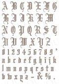 コラージュペーパー 2枚セット ゴシックアルファベット 大 ブラウン