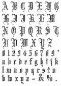 コラージュペーパー 2枚セット ゴシックアルファベット 大 ブラック