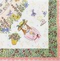 (D493)ペーパーナプキン お花と女の子のイラスト 1枚 バラ売り デコパージュにも