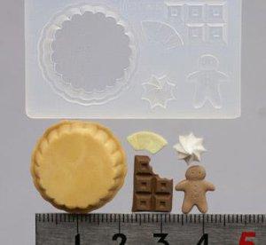 画像1: 振り込み限定20%オフ(S133)シリコンモールド チョコレートタルト ジンジャーマン付き
