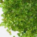 (1168) 【ミニチュアパーツ】ガラスカレット グリーン 緑  丸型ケース入り