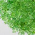 (1167) 【ミニチュアパーツ】ガラスカレット ライトグリーン 黄緑  丸型ケース入り