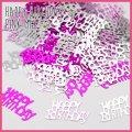 (we7) ミラー メタリック ハッピーバースディ 【ピンク】 メッセージ ロゴ ホログラム HAPPY BIRTDAY シャワー 誕生日