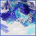 (we8) ミラー メタリック ハッピーバースディ 【ブルー】 メッセージ ロゴ ホログラム HAPPY BIRTDAY シャワー 誕生日