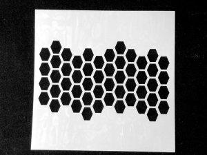画像1: (SST133)【アウトレット】ステンシル 六角柄 カフェラテアート ペーパークラフトやクッキー お菓子のデコレーションに