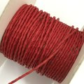 (LS27) 【副資材】 高品質 ワックスコード シワ加工 レッド 赤 2mm幅 細 10cm カット売り コード紐