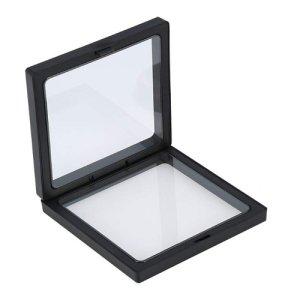 画像2: (KA30) 立体物を挟める 新フレーム フィルムディスプレイ スタンドボックス ブラック 2種のスタンド付き マイギャラリー