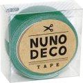 (KA15-221) ヌノデコテープ 【はっぱ】 幅1.5cm 布デコ 名前テープ ハンドメイド 手芸 ネーム 布製 布マスキングテープ