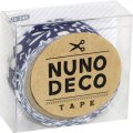 (KA15-246) ヌノデコテープ 【北欧の夜】 幅1.5cm 布デコ 名前テープ ハンドメイド 手芸 ネーム 布製 布マスキングテープ