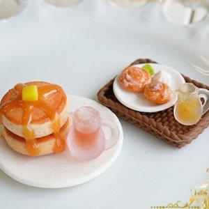 画像3: (S966)シリコンモールド キッチン雑貨 パンケーキ ホットケーキ 菓子パン サークル 丸型 5サイズ 立体型 レジン専用