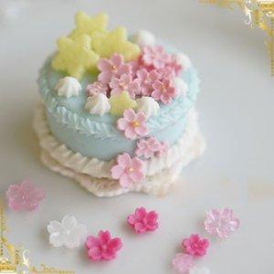 画像3: (S947)シリコンモールド 桜の花 小花 和風 春の花 フラワー型 立体 5サイズ×3種 レジンに