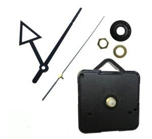 画像2: (2632) 時計 ムーブメント ブラック トラアングル 三角 手作りキット 時計針 秒針 セット クロック 壁掛け