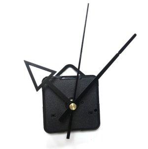 画像1: (2632) 時計 ムーブメント ブラック トラアングル 三角 手作りキット 時計針 秒針 セット クロック 壁掛け