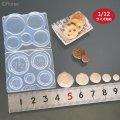 (S1032)シリコンモールド クッキー立体型 5サイズ 1/12サイズ対応 ミニチュア  レジンや樹脂粘土でのフェイクフード作りに