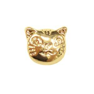 画像3: (kara15501)【お取り寄せ商品 10個セット販売】動物 チャーム( ミール皿 ・ セッティング台 )   通し穴付き 猫 キャットフェイス ( ネコ ) 3色展開 アクセサリー パーツ 和風