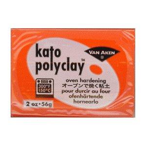 画像1: (deco45)  オーブン 粘土 kato polyclay オレンジ 56g ポリマークレイ 粘土細工 クレイアート クレイクラフト