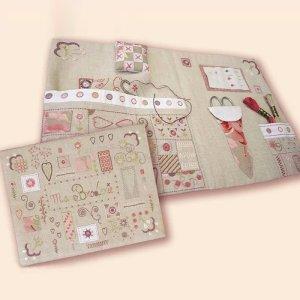 画像1: (by00550)中級者向け 刺繍キット フランス製 刺繡道具ケース お道具箱 ししゅう