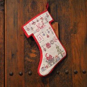 画像1: (by00658)中級者向け 刺繍キット フランス製 クリスマス ブーツ ししゅう ノエル