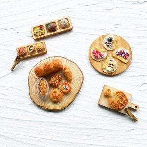 画像3: (a27) ナチュラルウッドベース スクエア 30×16×3mm 2個 カッティングボード まな板 ミニチュア食器 ディスプレイ ハンドメイド 手芸 パーツ 素材