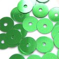 スパンコール●ウォッシャブル●平丸●グリーン メタリック P36●少量パック 〜760枚