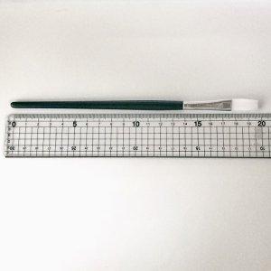 画像2: デコパージュ レジン 平筆 10号サイズ ハケ 1本 筆幅約10mm