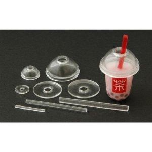 画像3: (ka1038) シリコンモールド クレイジュエリー フタ&ストロー タピオカドリンクカップ用 立体型 1/12サイズ対応 キッチン雑貨 ミニチュア食器 食玩 レジンや樹脂粘土でのフェイクフード作りに