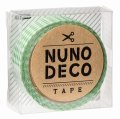 (KA11-845) ヌノデコテープ 【みどりチェック】 幅1.5cm 布デコ 名前テープ ハンドメイド 手芸 ネーム 布製 布マスキングテープ