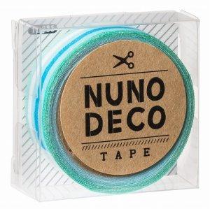 画像1: (KA11-856) ヌノデコテープ 【なつやすみ】 幅1.5cm 布デコ 名前テープ ハンドメイド 手芸 ネーム 布製 布マスキングテープ