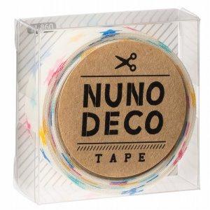 画像1: (KA11-860) ヌノデコテープ 【しろいカラフルスター】 幅1.5cm 布デコ 名前テープ ハンドメイド 手芸 ネーム 布製 布マスキングテープ