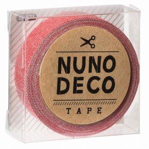 画像1: (KA11-871) ヌノデコテープ 【さんご】 幅1.5cm 布デコ 名前テープ ハンドメイド 手芸 ネーム 布製 布マスキングテープ
