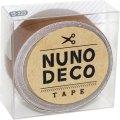 (KA15-225) ヌノデコテープ 【ナッツ】 幅1.5cm 布デコ 名前テープ ハンドメイド 手芸 ネーム 布製 布マスキングテープ