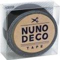 (KA15-227) ヌノデコテープ 【まっくろ】 幅1.5cm 布デコ 名前テープ ハンドメイド 手芸 ネーム 布製 布マスキングテープ