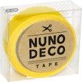 (KA15-228) ヌノデコテープ 【つみきのきいろ】 幅1.5cm 布デコ 名前テープ ハンドメイド 手芸 ネーム 布製 布マスキングテープ