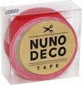 (KA15-229) ヌノデコテープ 【つみきのあか】 幅1.5cm 布デコ 名前テープ ハンドメイド 手芸 ネーム 布製 布マスキングテープ