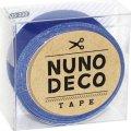 (KA15-230) ヌノデコテープ 【つみきのあお】 幅1.5cm 布デコ 名前テープ ハンドメイド 手芸 ネーム 布製 布マスキングテープ