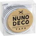 (KA15-233) ヌノデコテープ 【ハンサムなしましま】 幅1.5cm 布デコ 名前テープ ハンドメイド 手芸 ネーム 布製 布マスキングテープ