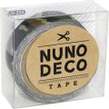 (KA15-234) ヌノデコテープ 【迷彩 みどり】 幅1.5cm 布デコ 名前テープ ハンドメイド 手芸 ネーム 布製 布マスキングテープ