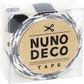 (KA15-236) ヌノデコテープ 【しまうま】 幅1.5cm 布デコ 名前テープ ハンドメイド 手芸 ネーム 布製 布マスキングテープ