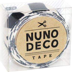 画像1: (KA15-236) ヌノデコテープ 【しまうま】 幅1.5cm 布デコ 名前テープ ハンドメイド 手芸 ネーム 布製 布マスキングテープ