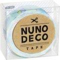 (KA15-240) ヌノデコテープ 【森のきのこ みんと】 幅1.5cm 布デコ 名前テープ ハンドメイド 手芸 ネーム 布製 布マスキングテープ