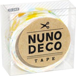 画像1: (KA15-242) ヌノデコテープ 【森のうた きいろ】 幅1.5cm 布デコ 名前テープ ハンドメイド 手芸 ネーム 布製 布マスキングテープ