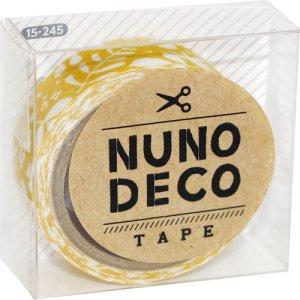 画像1: (KA15-245) ヌノデコテープ 【北欧の朝】 幅1.5cm 布デコ 名前テープ ハンドメイド 手芸 ネーム 布製 布マスキングテープ